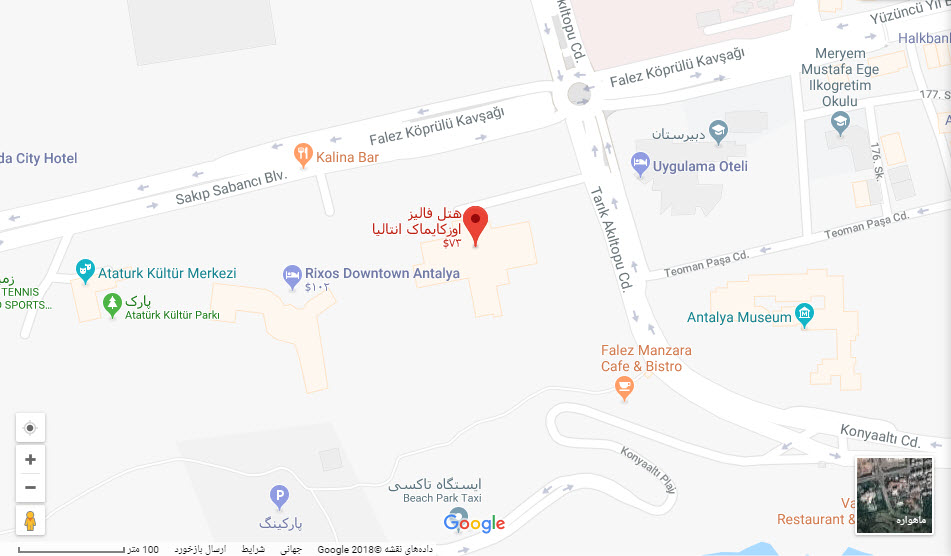 مکان هتل اوزکایمایک بر روی نقشه گوگل