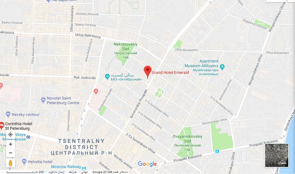 مکان گرند هتل امرالد بر روی نقشه گوگل