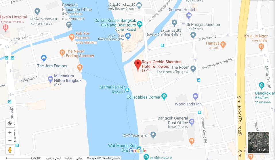 مکان هتل رویال ارکید بر روی نقشه گوگل