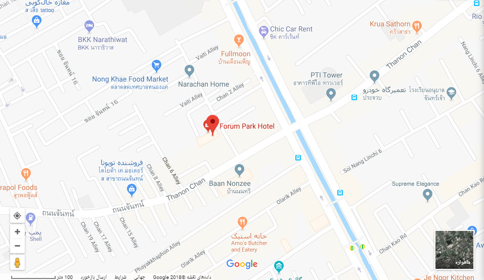 مکان هتل فروم پارک بر روی نقشه گوگل