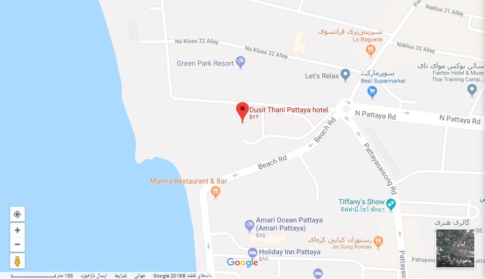 مکان هتل دوسیت تانی بر روی نقشه گوگل