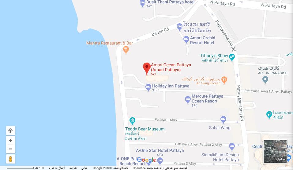 مکان هتل آماری ارکید بر روی نقشه گوگل