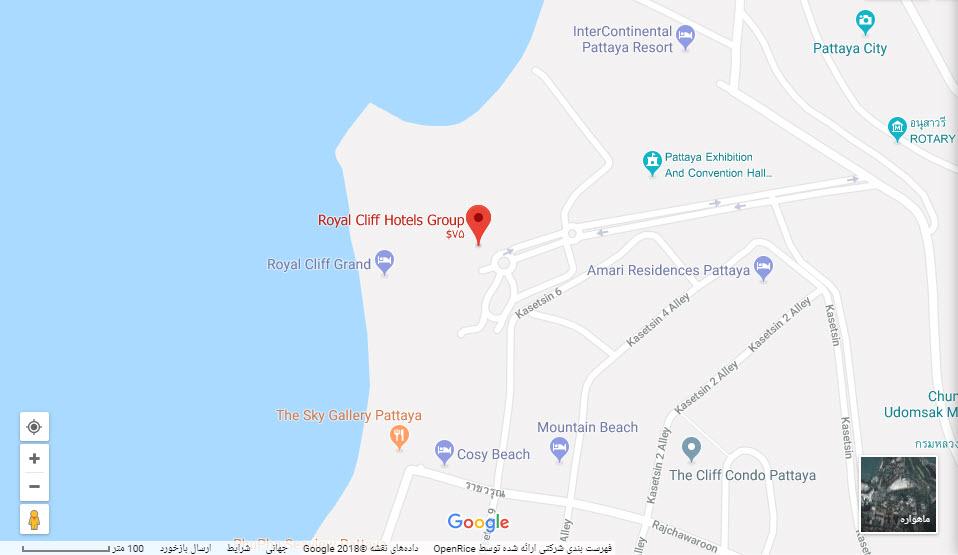 مکان هتل رویال کلیف بر روی نقشه گوگل