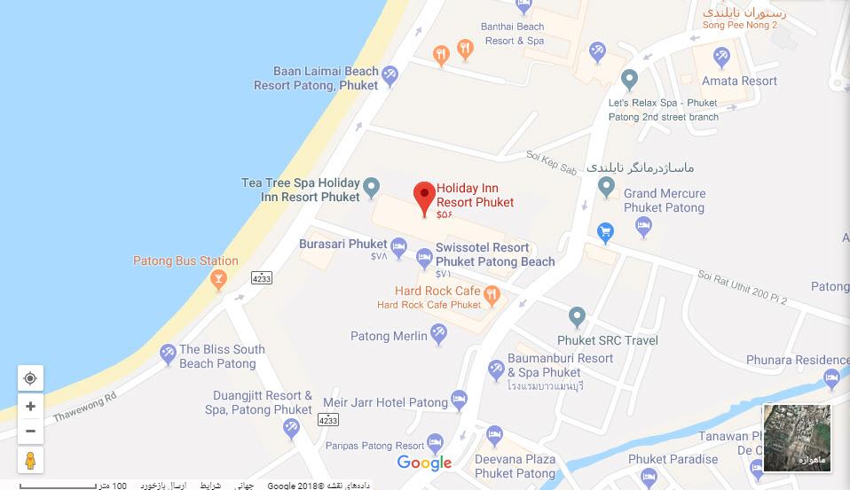 مکان هتل هالیدی این ریزورت بر روی نقشه گوگل