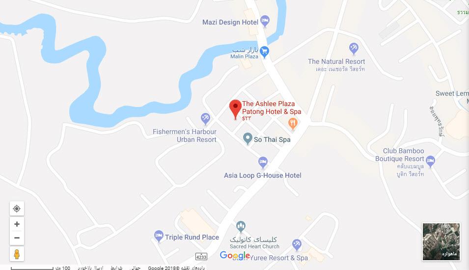 مکان هتل اشلی پلازا بر روی نقشه گوگل