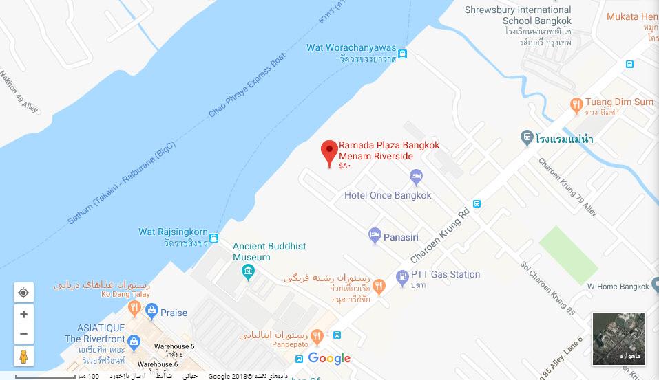 مکان هتل رامادا پلازا منام بر روی نقشه گوگل