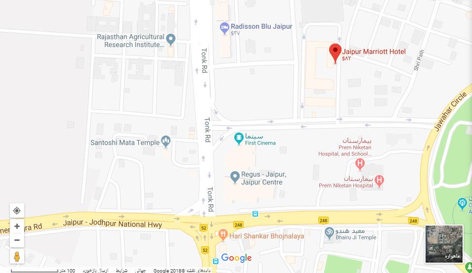 مکان هتل جیپور ماریوت بر روی نقشه گوگل