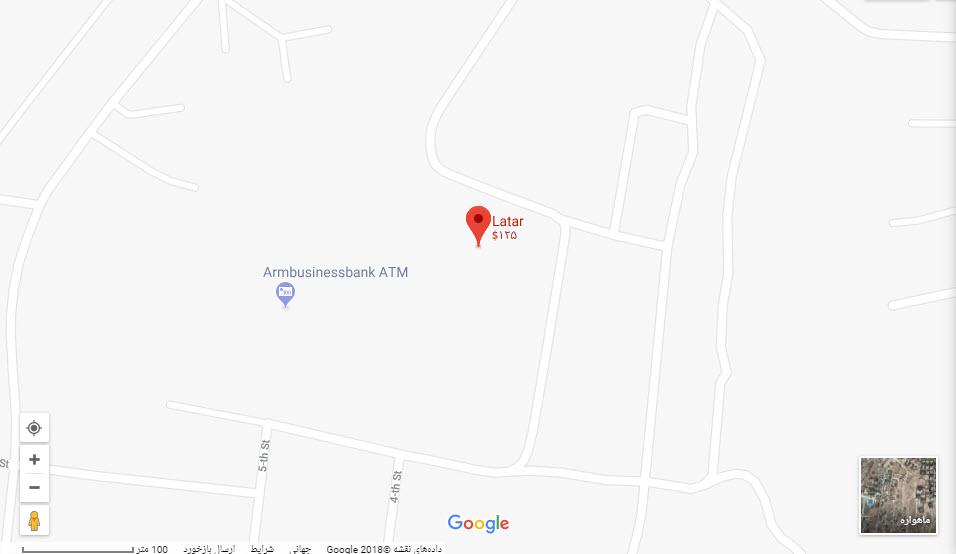 مکان هتل لاتار بر روی نقشه گوگل