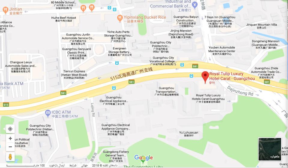 مکان هتل رویال تولیپ بر روی نقشه گوگل
