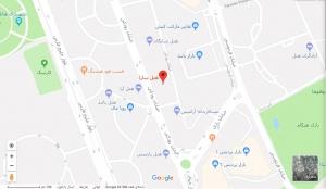 مکان هتل سارا بر روی نقشه گوگل