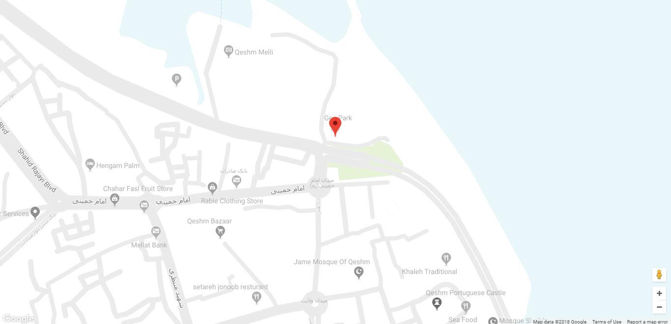 مکان هتل ژئوپارک بر روی نقشه گوگل